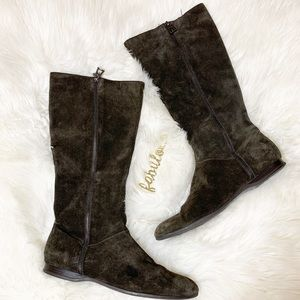 Enzo Angiino brown suede boots